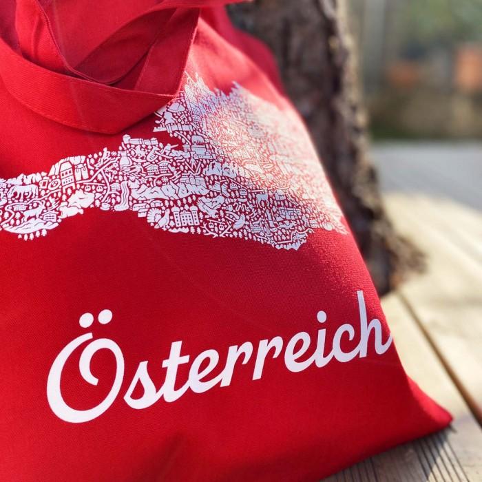 Österreich Karte Tasche Rot