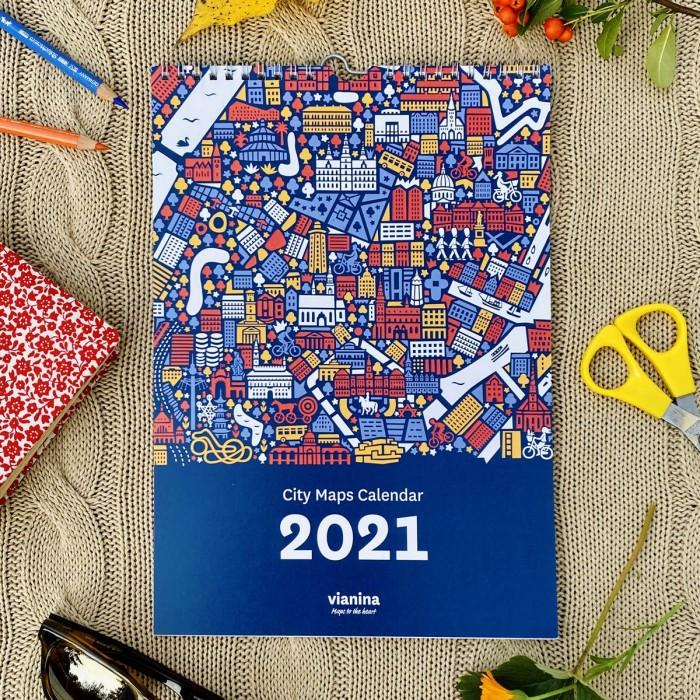 Stadtplan Kalender 2021