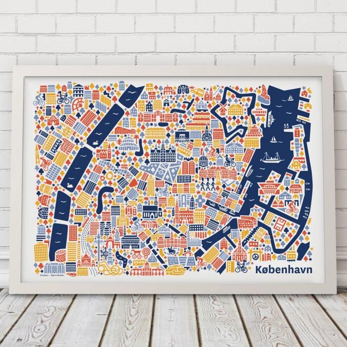 Kopenhagen Karte Poster