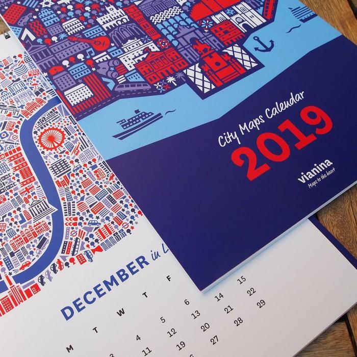 Stadtplan Kalender 2019