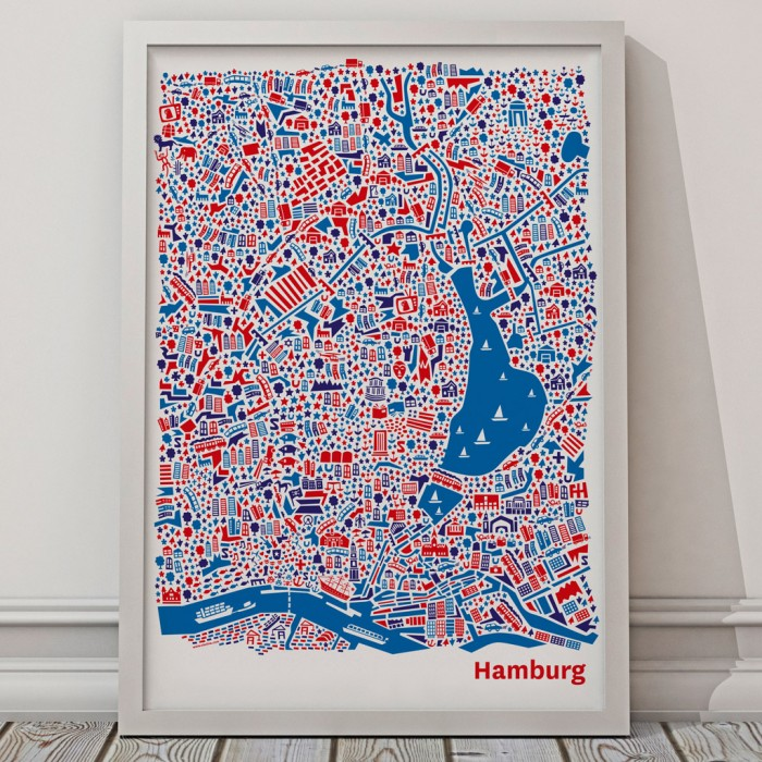 Vianina Hamburg Poster