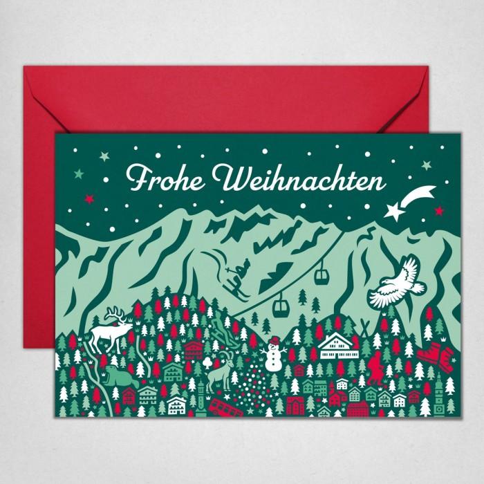 Bergkulisse Weihnachtskarte