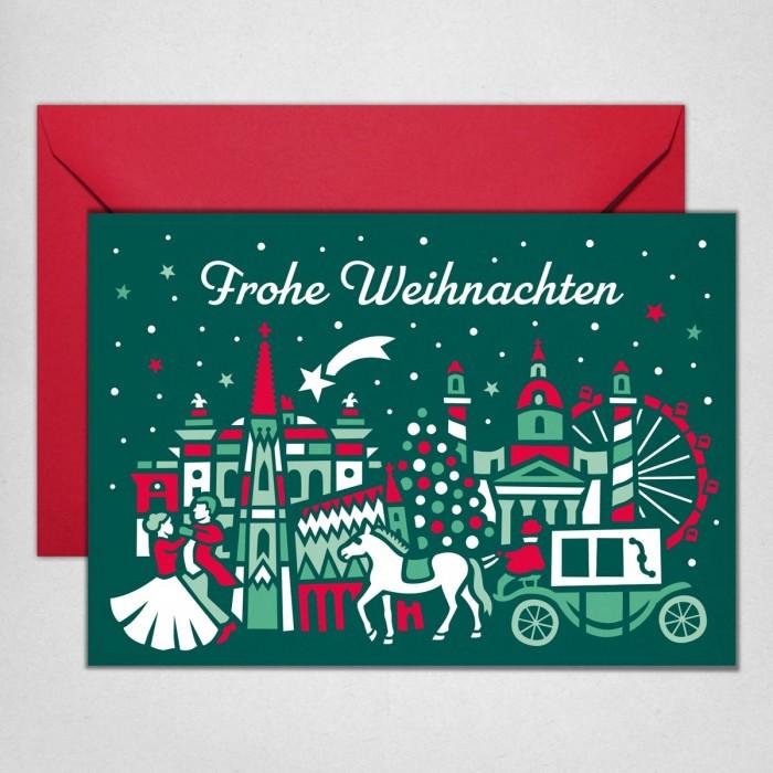 Wien Stadtkulisse Weihnachtskarte
