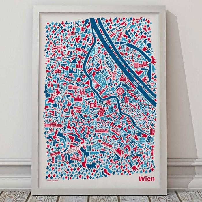 Wien Poster Blau