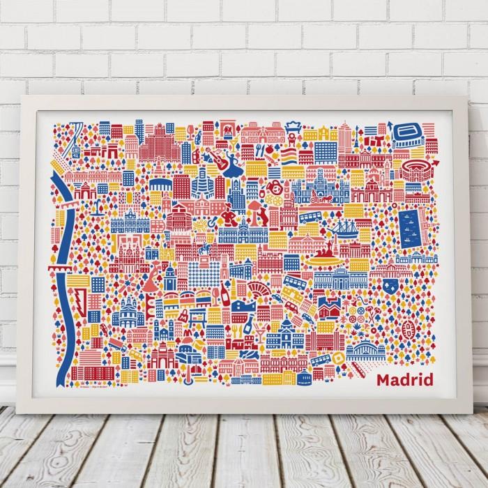 Madrid Stadtplan Poster