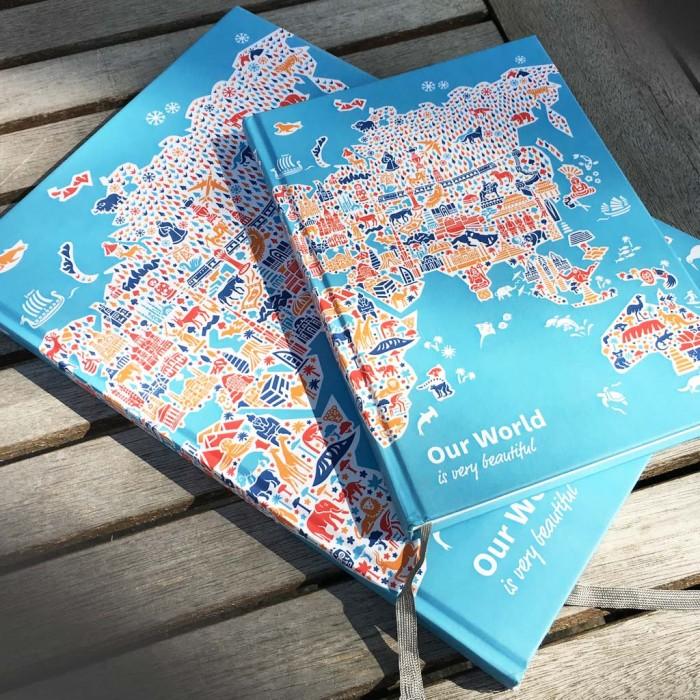 Weltkarte Notizbuch
